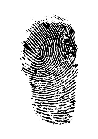 fingermark: detailed finger print - vector illustration