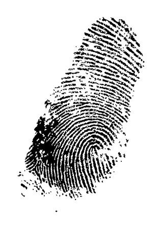 fingermark: detailed finger print - vector illustration