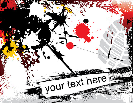 addition: grunge background with text addition