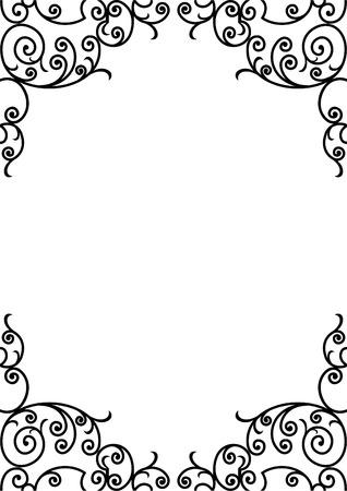 gemstones: smeedijzeren elementen - vector illustration