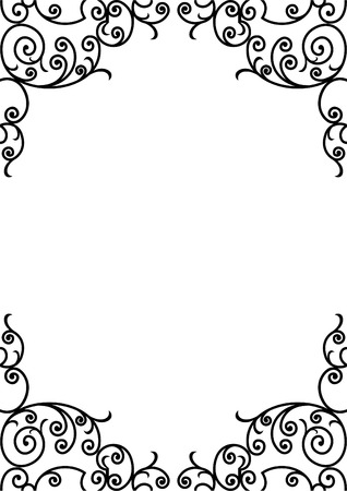 coronation: wrought iron elements - vector illustration