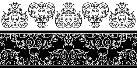 wrought iron elements - repeating left to right (vector) Stock Vector - 2704323