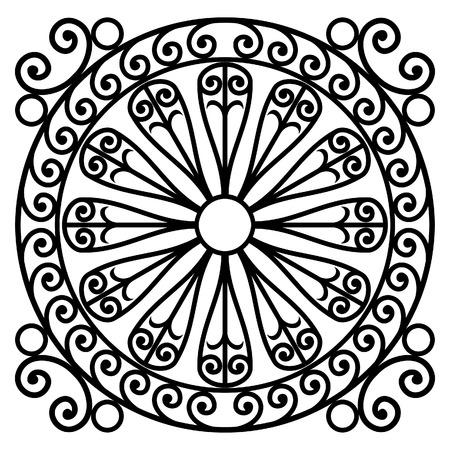 wrought iron rosette - vector illustration Stock Vector - 2704318