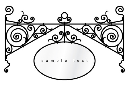 lamp outline: iron design elements - vector illustration