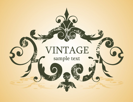 tree logo: vintage background