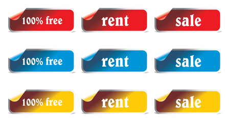 vector stickers and labels set Illustration