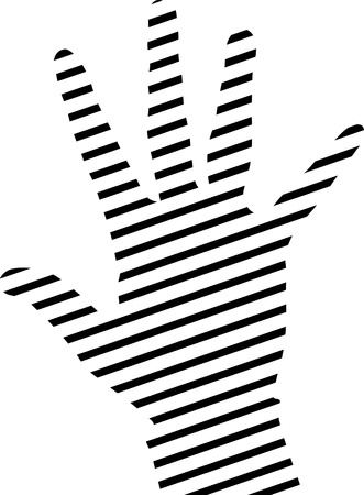 grasp: simple hand silhouette made from lines