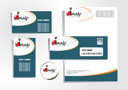 white headed: corporate identity 1 Illustration