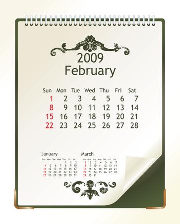 february 2009 Vector