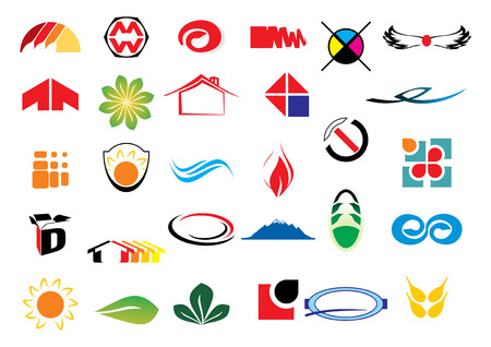 different logo elements - vector illustration Ilustração