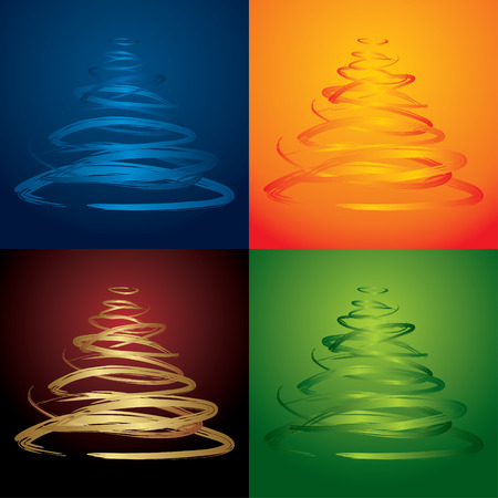 vector christmas trees - see more in my portfolio Vector