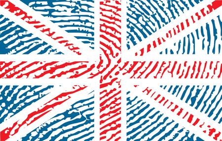 fingerprinted: fingerprinted flag of United Kingdom