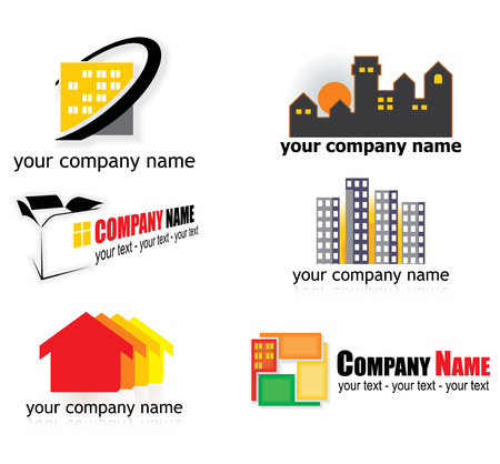 new house: real estate logo elements