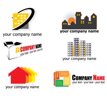 real estate logo elements Vector