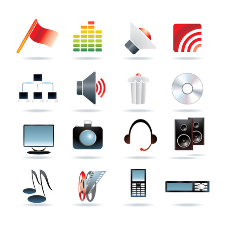 16 web icons - vector illustration Vector