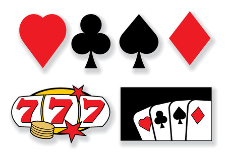 vector playing cards and casino design elements Vector