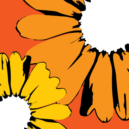 vector artwork: vector sunflowers Illustration