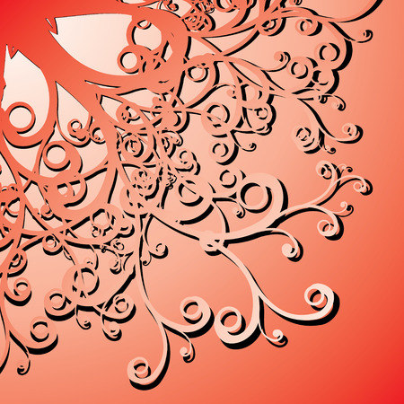 curly illustration Vector