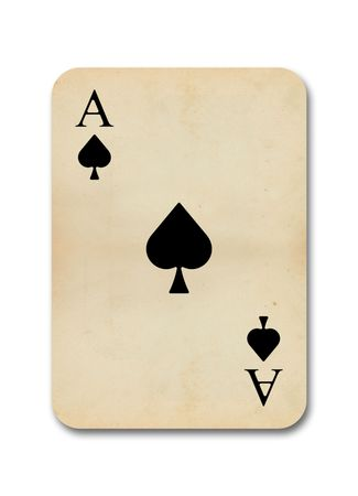 isolated old vintage aces playing card photo