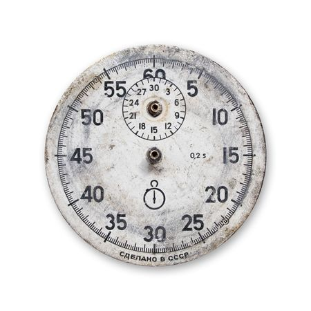 isolated grunge vintage stopwatch without pointers photo