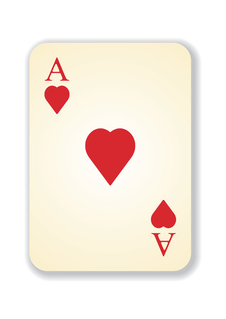 vector version of old vintage aces playing card Vector