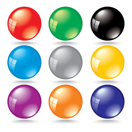 shiny 3d color bubbles with window reflection