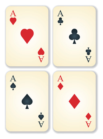 vector version of old vintage aces cards