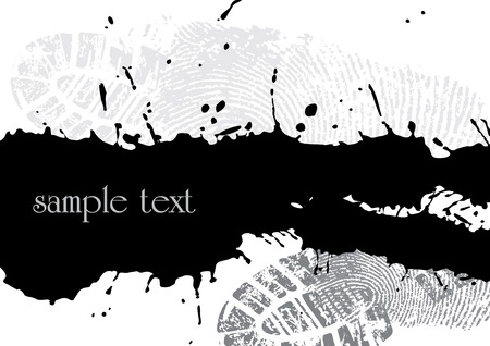 abstract grunge background made from splashes - illustration Vector