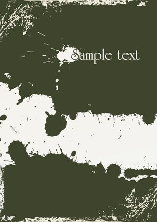 blemish: abstract grunge background made from splashes - illustration