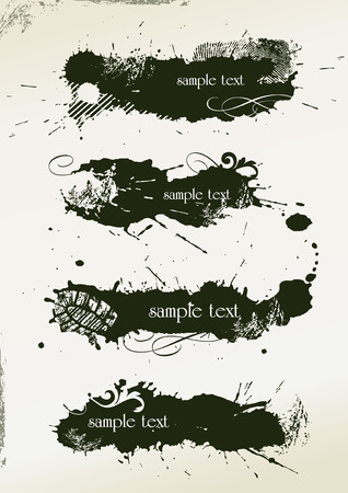 abstract grunge banners made from splashes - illustration Vector