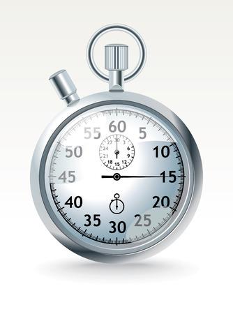 chrome stopwatch Stock Vector - 7437817