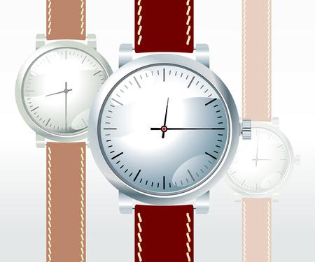 wristwatch on white background Vector