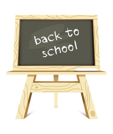 blackboard with back to school message  illustration Vector
