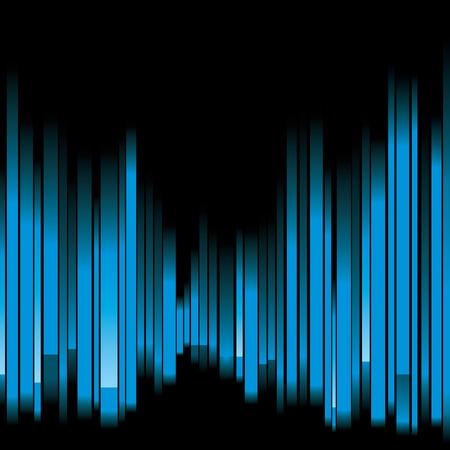 fractal design element or art background: blue abstract background