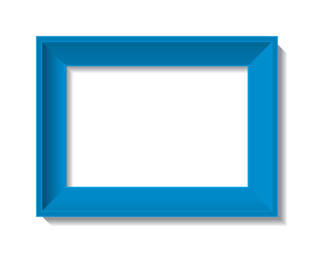 silver picture frame: empty photo frame