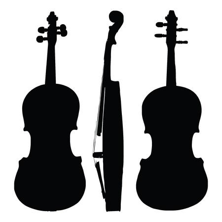 furnier: alte Violine Silhouette Seiten