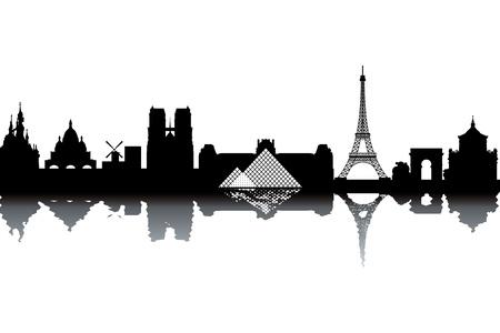 Paris skyline Vector