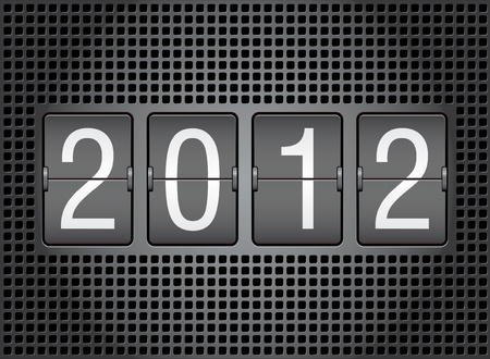 editable 2012 new year on mechanical scoreboard Stock Vector - 10846239