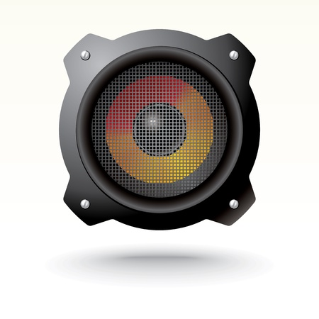 audio speaker with grid Vector