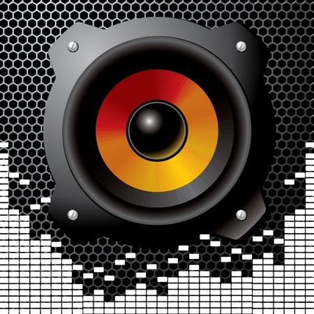 audio speaker Stock Vector - 10894159