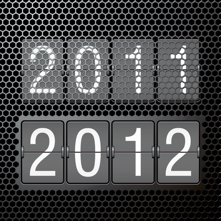 2012 new year on mechanical scoreboard Stock Vector - 11126318