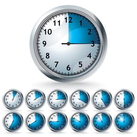 zestaw zegarów wektorowych