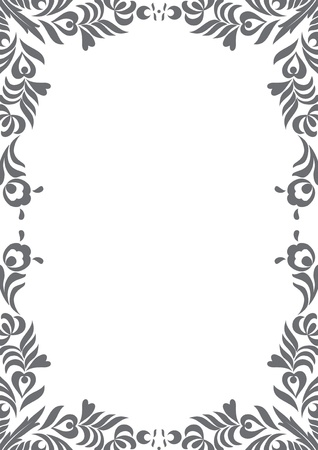 floral page decoration Illustration