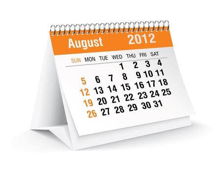 calendario da tavolo: Agosto 2012 scrivania calendario