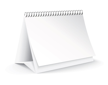 blank desk calendar Vector