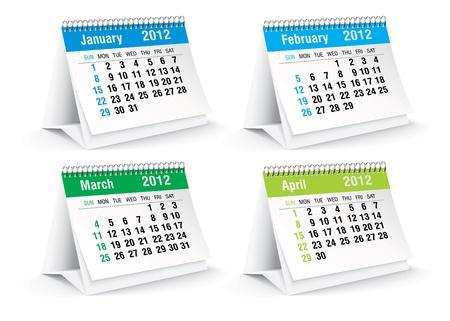 calendario da tavolo: 2012 scrivania calendario