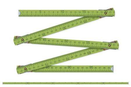 tape measure: carpenter s measure - vector illustration