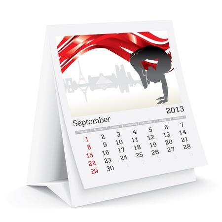 calendario da tavolo: Settembre 2013 calendario da tavolo