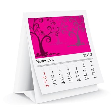 calendario da tavolo: Novembre 2013 calendario da tavolo