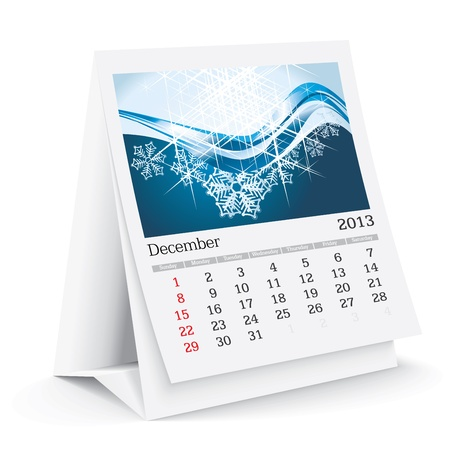 thursday: december 2013 desk calendar